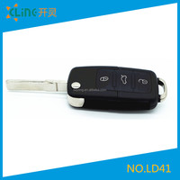 VW key fobs shell replace 3+1 buttons VW flip remote key shell