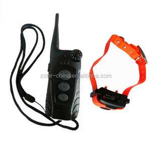 Rechargeable and waterproof dog shock training collar with CE ROHS FCC RTTE Approved