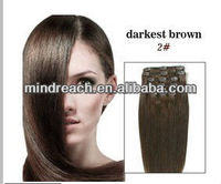 Top quality Brazilian virgin hair sensational clip-in human hair /Clip on hair extension,accept escrow