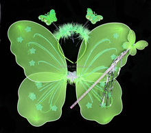 Beauty trendy butterfly led wings with headband Magic wand wholesale QFW-1032