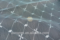 100% ployester jacquard nets fabric with mesh for mosquito net