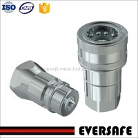 Hydraulic standard quick release couplings with poppet valve