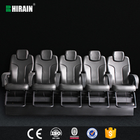 Leather made cinema 4d motion seats theatre equipment in sales promotion