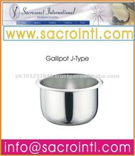 Pakistan J-Type 2 oz to 36 oz Stainless Steel Gallipot