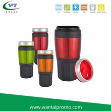 Food Safety Cups Eco Friendly Double Insulated Custom For Car Travel Coffee Mugs No mum Order