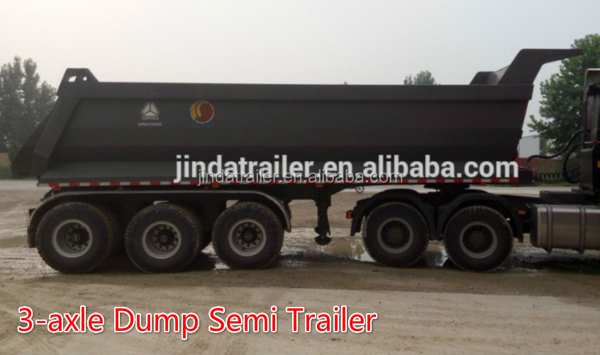 3 axle side dump trailer/china dump truck trailer