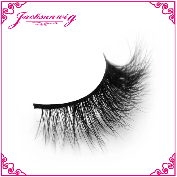 Handmade 3D Mink Fake Eyelashes -Reusable with Clear Invisible Flexible Band, Lightweight Fluffy Natural Looking