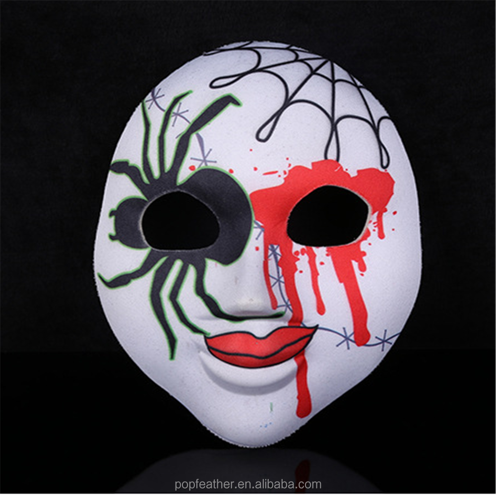 newest venetian Horrible style mask/ cloth flower and feather party mask