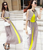 NEW Korean Women Slim Boho Chiffon Party Cocktail Summer Beach Maxi Long Dress