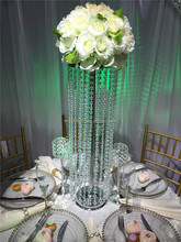 Tall crystal wedding centerpieces/wedding flower stand for wedding decoration