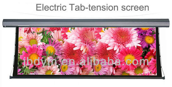 "Electric tensioned screen 120"" 16:9, tab-tensioned projection/projector screen"