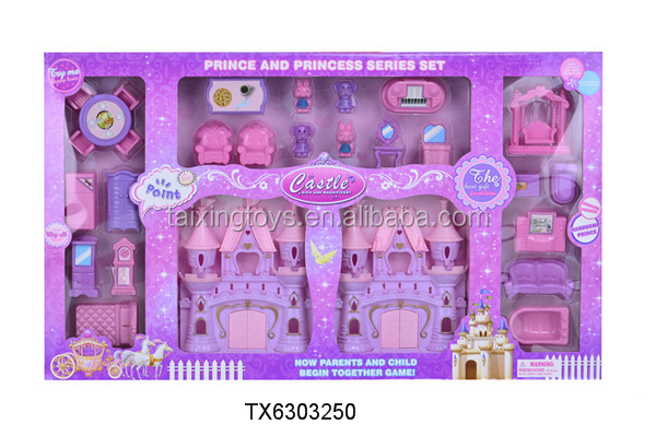 New Princess DIY Villa/Castle/House with Furniture Kids Building Toys