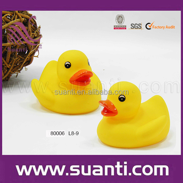 Simple yellow floating duck toys for toddlers