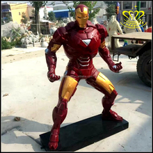 Custom decor resin crafts life size action figure Iron Man sculpture