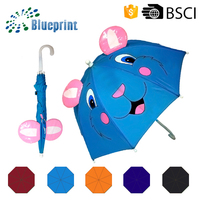 Cheap promotional straight animal umbrella for children