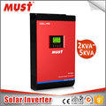MUST DC to AC solar power inverter with 4kw 60a mppt solar charge controller inverter
