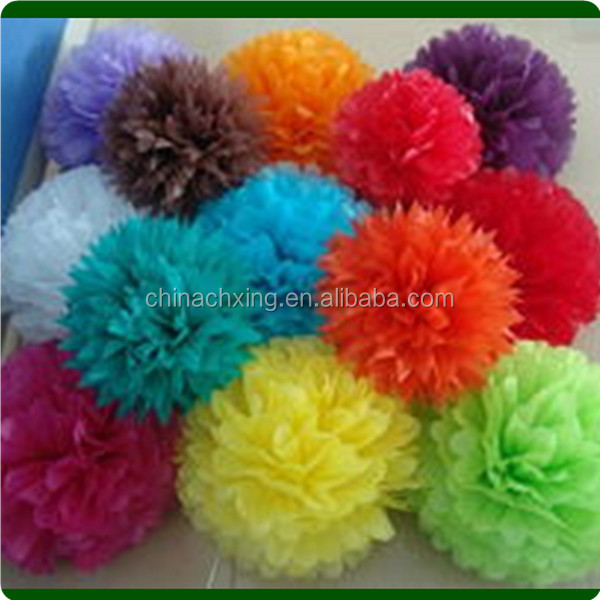 tissue paper pom poms decoration with paper tissue honeycomb flower