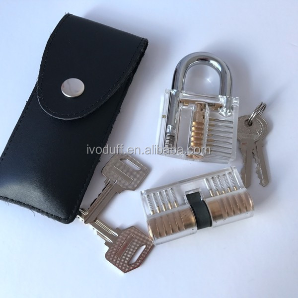 Big 24 pcs Transparent lock Unlocking Tools Pick Set