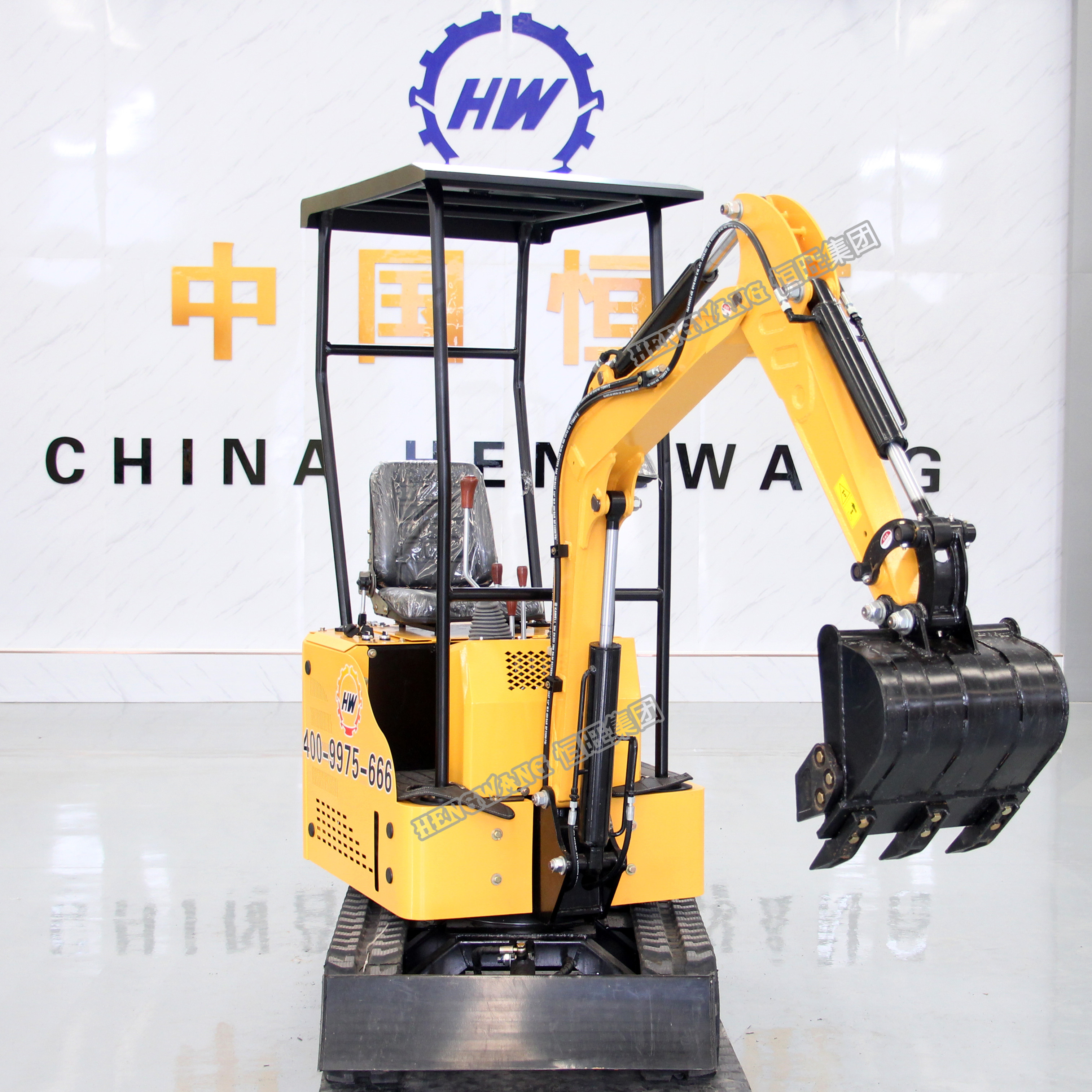 China HW-<strong>W10</strong> 1 Ton 11.7 HP Micro Mini Crawler Digger Excavator for Sale