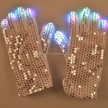 LED Fingers Flashing Gloves Glow 7 Mode Finger Light Up Glow Mittens DISCO Party Hallowmas