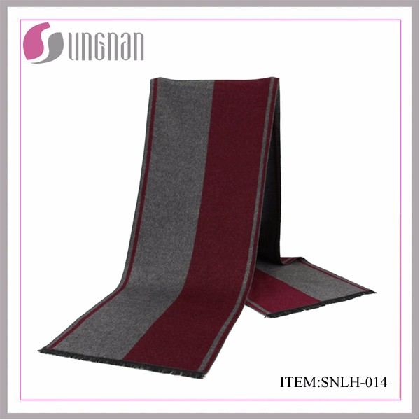 Wholesale fanshion winter acrylic custom knitted scarf for men