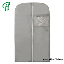 Customized Logo Printed Zipper Style PVC Pocket Garment Bag, Wholesale Silk Printed Suit Bag