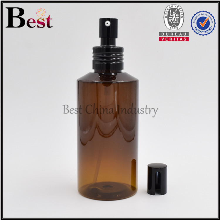 promotion selling lotion amber pet plastic bottle 100ml, skin care water bottle