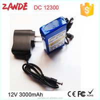 12V lithium battery 3000mah built-in protection board rechargeable battery backup for surveillance camera Satellite Finder