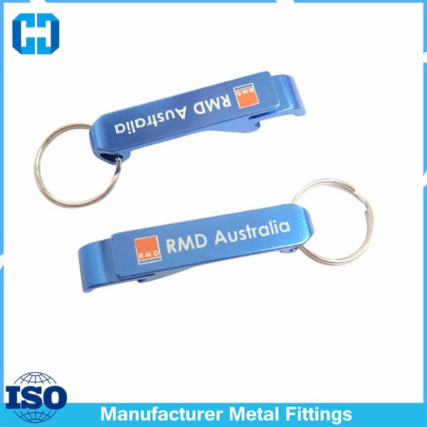 Portable Aluminum Alloy Metal Bottle Opener Keychain Key Tag Chain