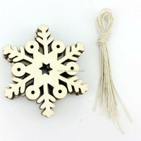 Shabby Chic Wooden Snowflakes Laser Wood Shapes Christmas Tree Ornaments