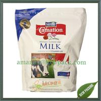 Shenzhen manufacturer food/milk powder/soya bean powder stand up packaging bag