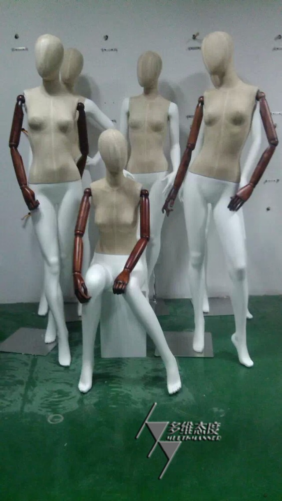 TeMei Full Body Adjustable Wrapped Female Mannequin,Glossary Mannequin With High Quality