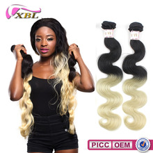 2015 XBL Top 7A Wholesale Price Indian Human Hair Remy Hair Blonde