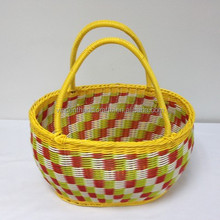 Chinese style artificial rattan woven shopping baskets fruit baskets