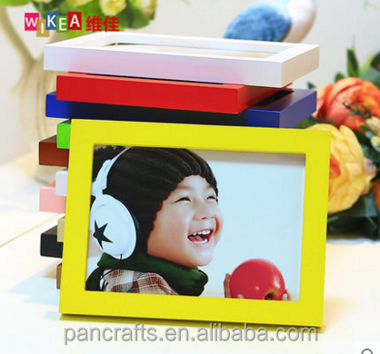 Single set colorful hot sale cheap custom frame photo wooden