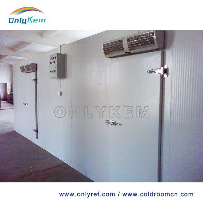 Refrigeration room, cold storage room for beef in Sierra Leone