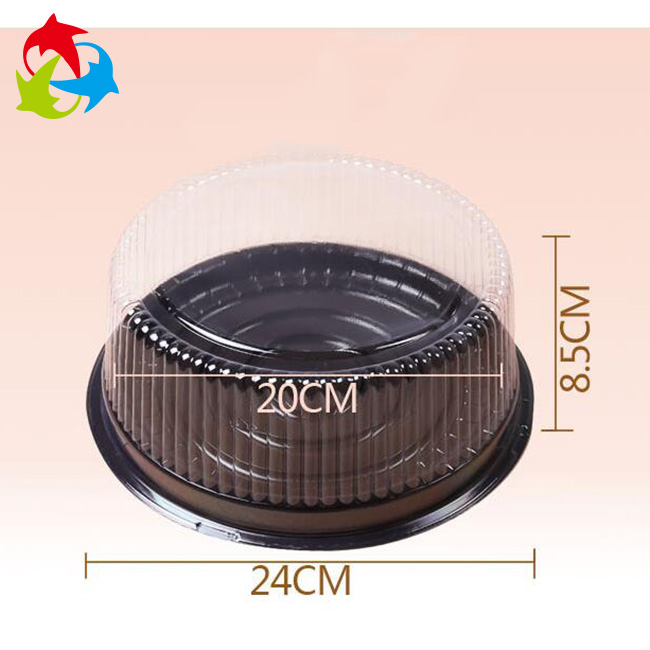 Food Grade Disposable Large Round Clear Plastic Cake box
