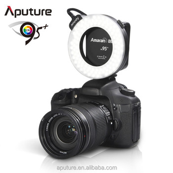 Aputure CRI95+ dslr camera macro ring flash light for Canon and Nikon