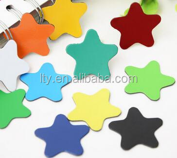 Cheap small colored star shape refrigerator magnets