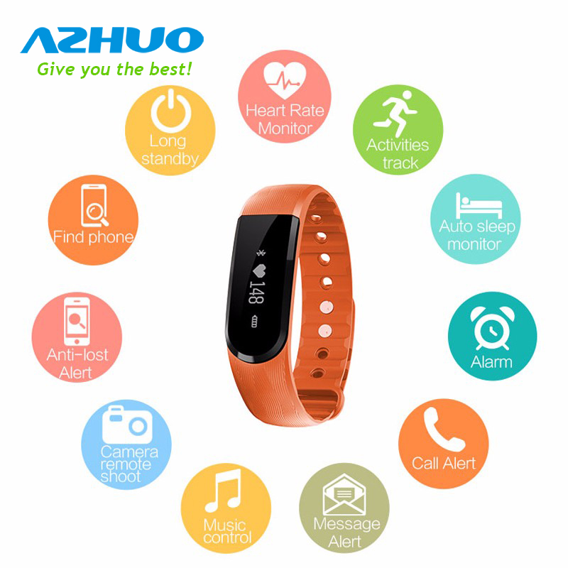 ID101 Smart Band Heart Rate Monitor Smart Bracelet Activity Fitness Tracker Pedometer Sport Wristband For Andriod IOS