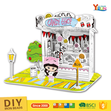 2017 Newest Popular 3D Candy house DIY Toys Painting free jigsaw puzzles games