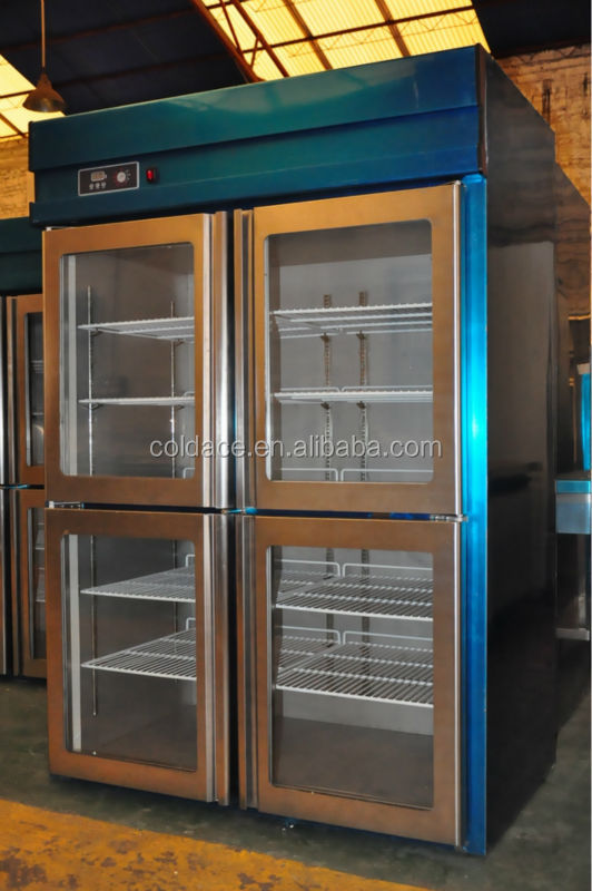 Economic vertical business low temperature control kitchen fridge with good price