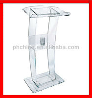 JAL-008 CONTEMPORARY STYLE ACRYLIC LECTERN,CRYSTAL CLEAR SPEAK STAND FOR SPEECH.