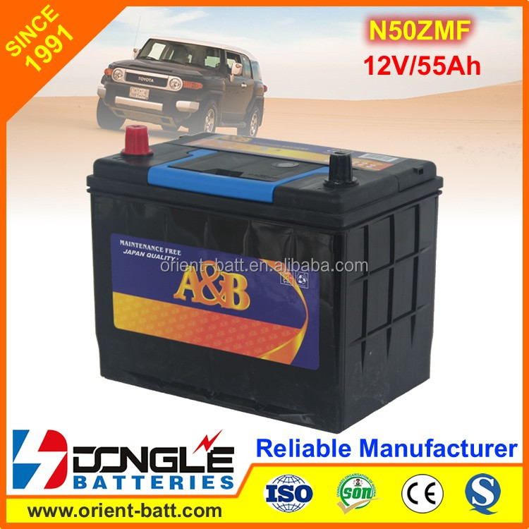 Factory Good Price Japan Standard 12V 55Ah Car battery