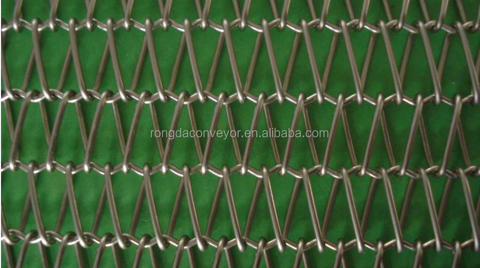 wire mesh belt for glass ware annealing lehrs