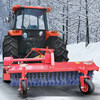 snow sweeper machines powered by farm tractors