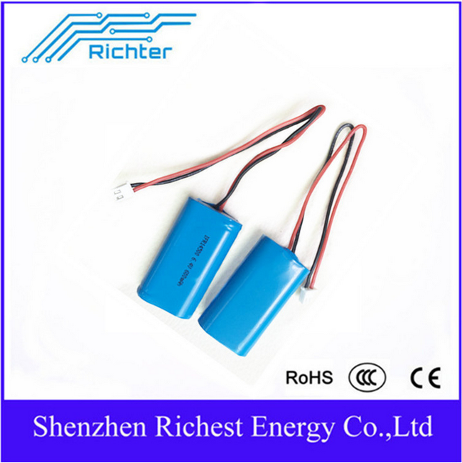 recharge IFR 14500 600Mah 6.4V lithium battery for car battery