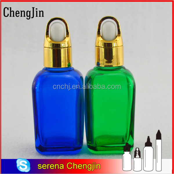 wholesale supplies 30ml 50ml square cosmetic beauty glass vials for electronic liquid packaging with insert dropper