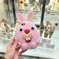 Cute Cover Silicone Buck Teeth Rabbit Case for iPhone 6 Plus
