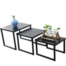Coffee Table Metal Frame 3Pcs Steel Nesting Sofa Side Table Sets Wholesale